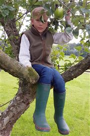 Green Junior Warm Wellies