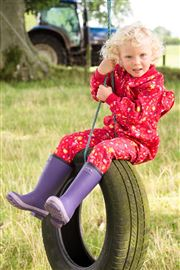 Purple Infant Warm Wellies