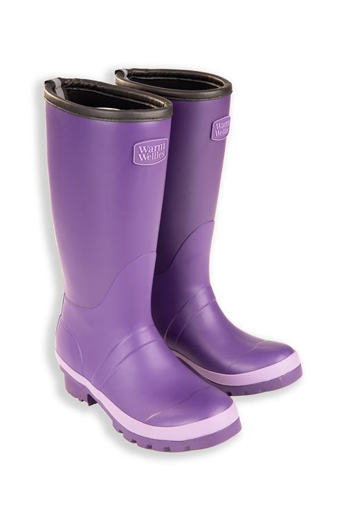 Purple Junior Warm Wellies