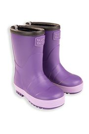 Purple Toddler Warm Wellies  (Flat Sole)