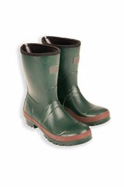 Green Adults Short Warm Wellies
