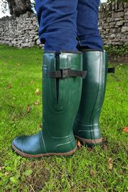 Green Adult Wide Warm Wellies